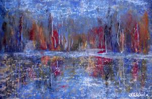 Oil pastel Mikaela Steen